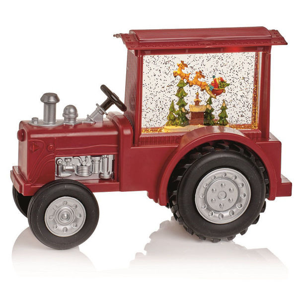 Picture of LED WATER SPINNER MUSICAL RED TRACTOR - CM