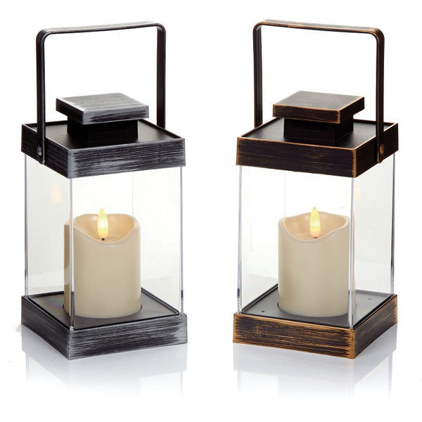 Picture of LANTERN WITH FLICABRIGHT CANDLES - 18.5CM