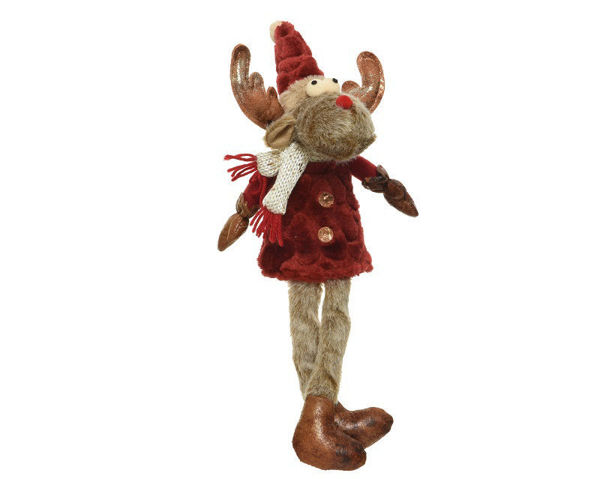 Picture of PLUSH REINDEER WITH DANGLING LEGS- 26CM
