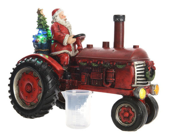 Picture of BATTERY OPERATED LED TRACTOR WITH SANTA - 22CM