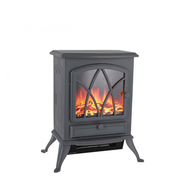 Picture of WARMLITE STIRLING ELECTRIC FIRE STOVE GREY-2KW