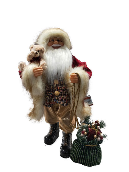 Picture of STANDING SANTA DARK RED - 60CM