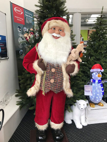 Picture of Standing Santa Dark Red - 180cm