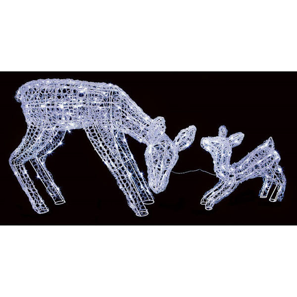 Picture of Premier LED Soft Acrylic Mother and Baby Reindeer - Set of 2