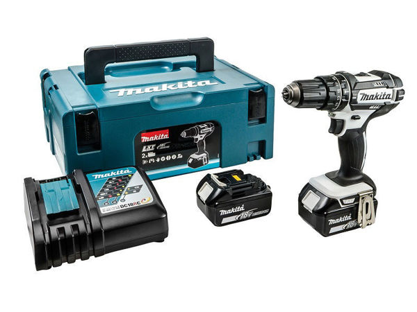 Picture of MAKITA 18V LXT BLACK & WHITE COMBI DRILL
