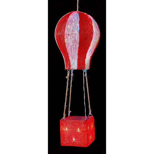 Picture of LED RED & WHITE ACRYLIC HOTAIR BALLOON -52CM