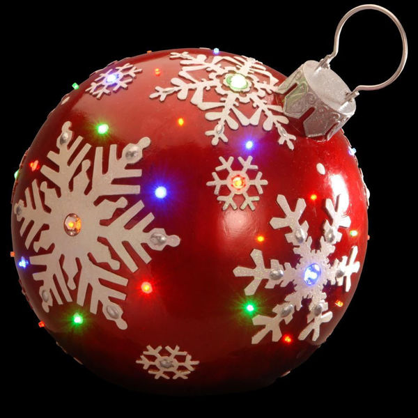Picture of LED RED JEWELLED BAUBLE 18''