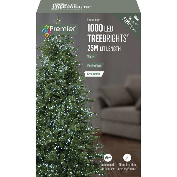 Picture of 1000 LED MULTI-ACTION TREEBRIGHTS WITH TIMER - WHITE