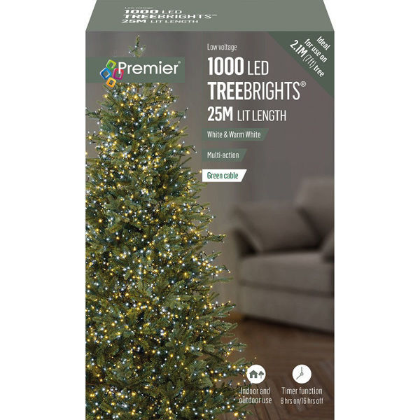 Picture of 1000 LED MULTI-ACTION TREEBRIGHTS WITH TIMER - WHITE  & WARM WHITE