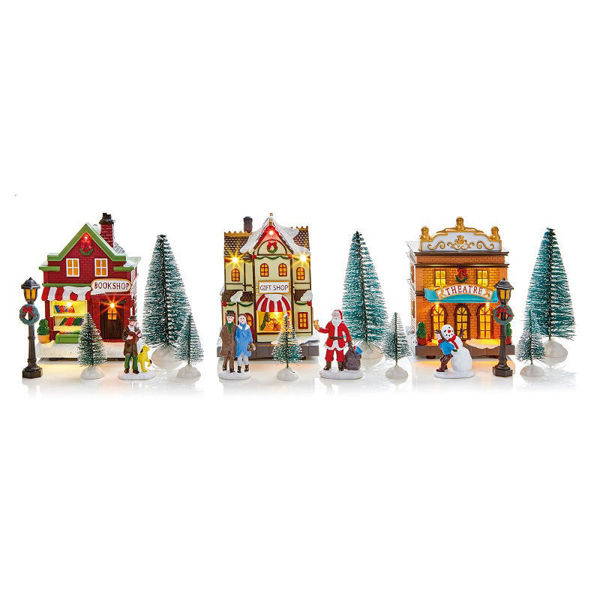 Picture of LED Village Set with Try Me Box - 17pce