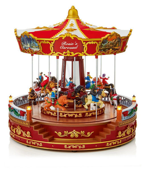 Picture of LED Animated Musical Carousel with Horses - 35cm