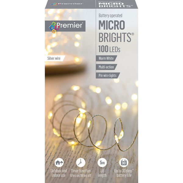 Picture of Premier 100 LED Battery Operated Multi-Action Microbrights - Warm White