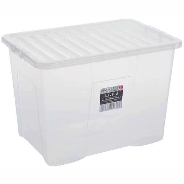Picture of Crystal Storage Box & Lid Clear - 80ltr