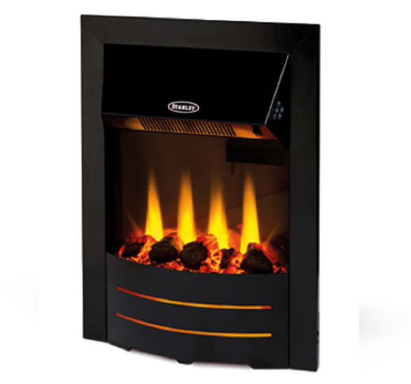 Picture of Stanley Argon Bailey Electric Inset Stove - Black Trim