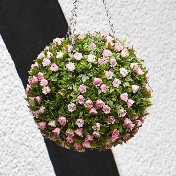 Picture of TOPIARY PINK ROSE BALL - 30CM