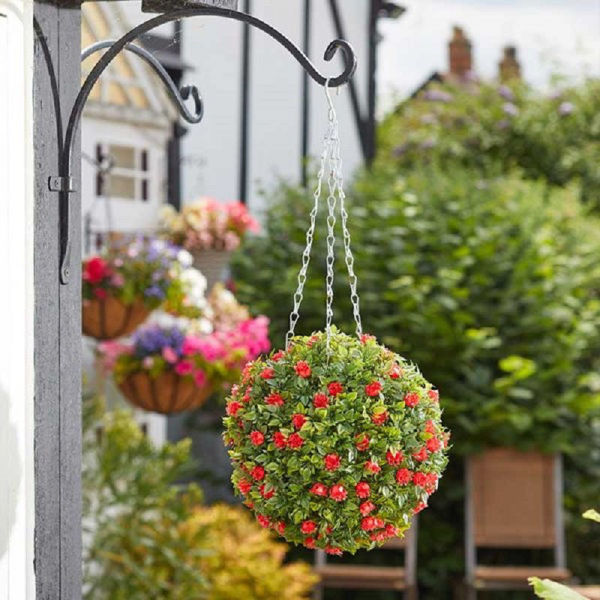 Picture of TOPIARY RED ROSE BALL - 30CM