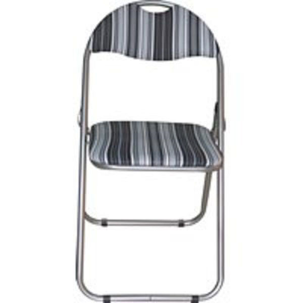 Picture of FOLDING CHAIR -BLACK STRIPE