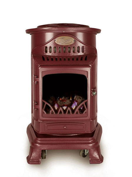 Picture of PROVENCE PORTABLE BURGUNDY GAS FIRE HEATER - 3.4KW