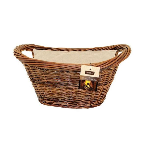 Picture of SIROCCO NATURAL WICKER OVAL BASKET WITH LINER