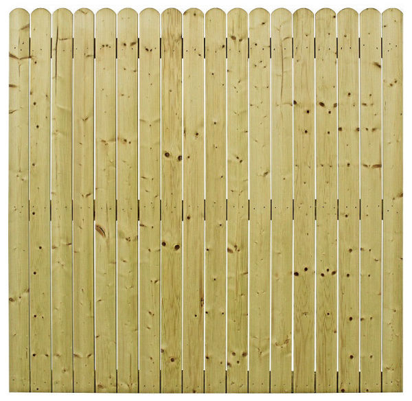 Picture of 1.8M X 1.8M ROUND TOP CLOSED BOARD FENCE PANEL