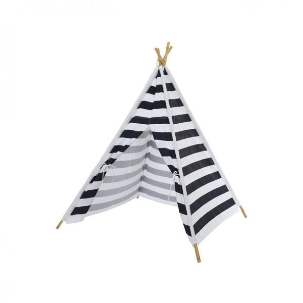 Picture of NAVY & WHITE STRIPE TEEPEE PLAY TENT