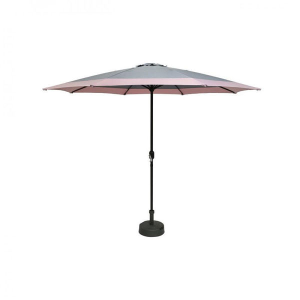 Picture of PARASOL 3M GREY WITH PINK EDGE