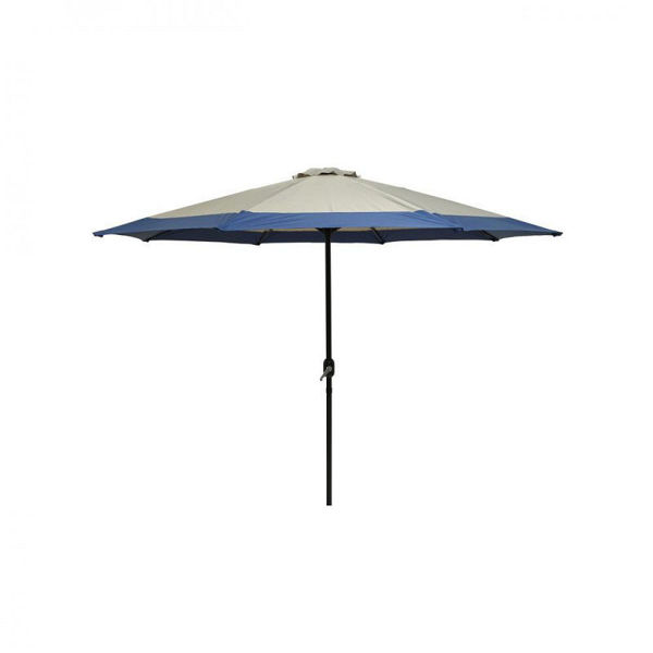 Picture of PARASOL 3M TAUPE WITH BLUE EDGE
