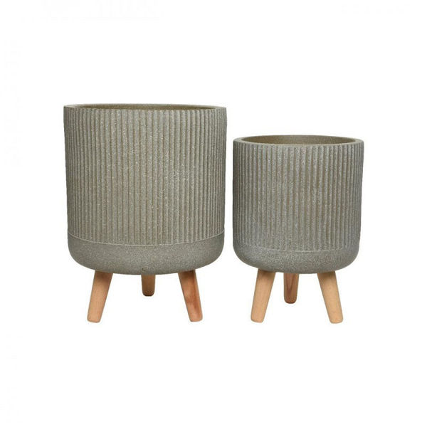 Picture of FIBRE CLAY  PLANTER PIN LEGS - SET OF TWO