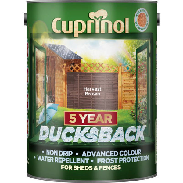 Picture of CUPRINOL DUCKSBACK  - HARVEST BROWN 5L