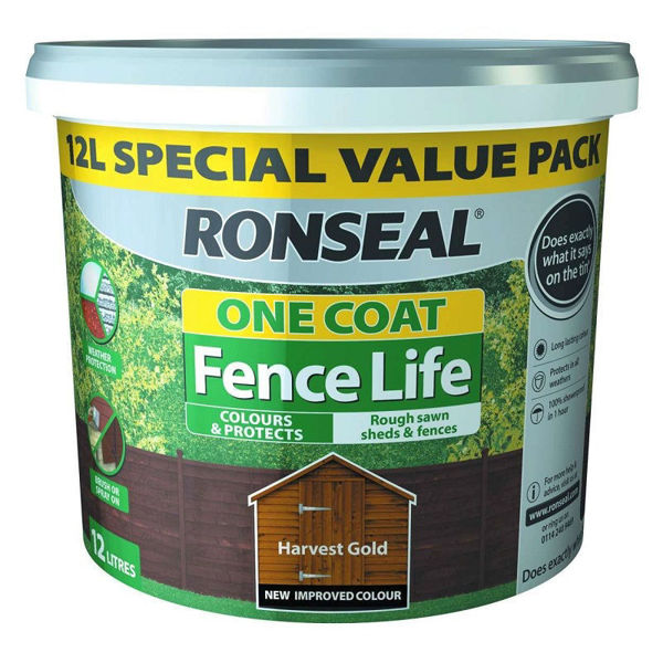 Picture of RONSEAL FENCE LIFE PLUS HARVEST GOLD 12L