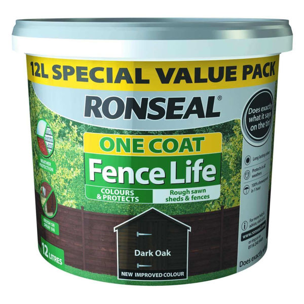 Picture of RONSEAL FENCE LIFE DARK OAK ONE COAT 12L