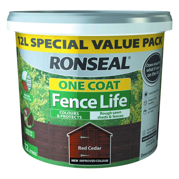 Picture of RONSEAL FENCE LIFE PLUS RED CEDAR 12L