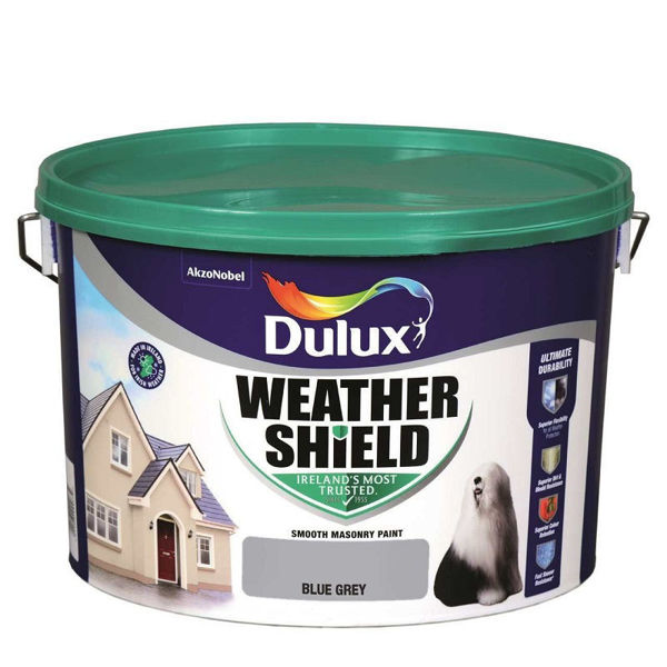 Picture of 10 LITRE DULUX WEATHERSHIELD BLUE GREY