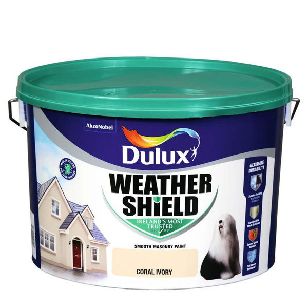 Picture of 10 LITRE DULUX WEATHERSHIELD CORAL IVORY