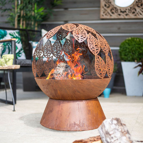 Picture of LEAVES GLOBE FIRE PIT