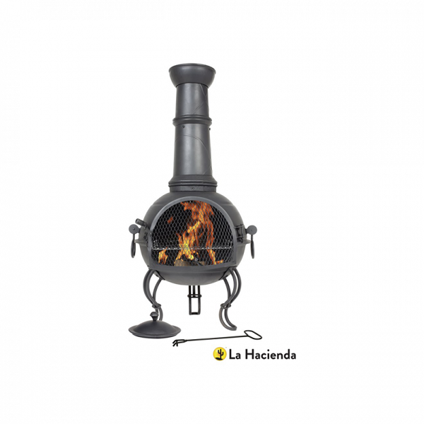 Picture of MURCIA LARGE STEEL CHIMENEA WITH GRILL