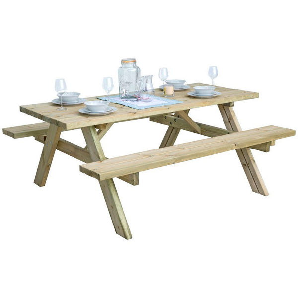 Picture of PICNIC BENCH 6 SEATER  HEAVY DUTY