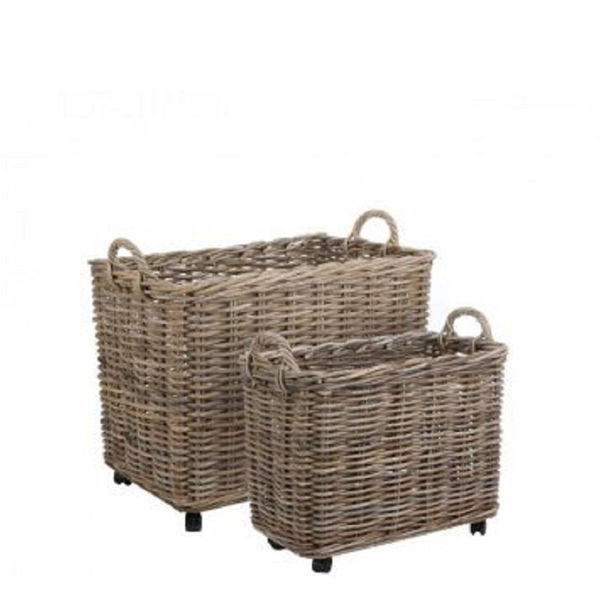 Picture of MARCIA SET OF 2 RECTANGULAR BASKETS ON WHEELS